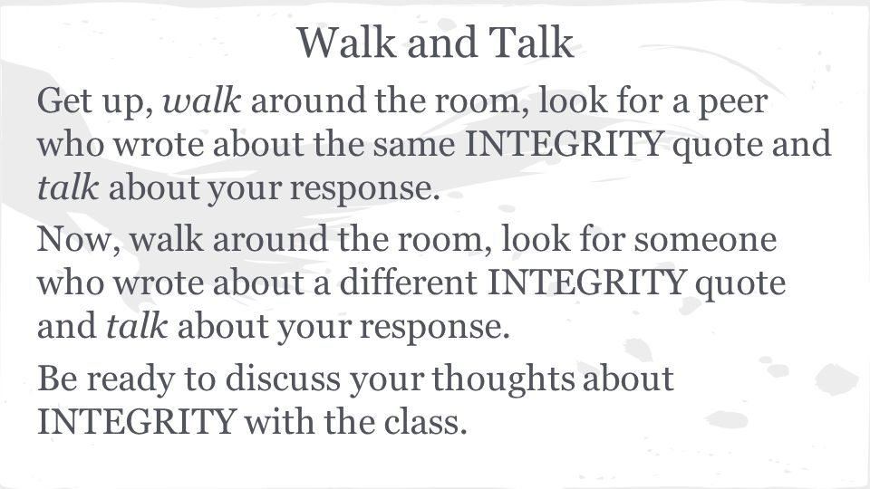 Academic Integrity Your Choices Matter Quickwrite Select One Of
