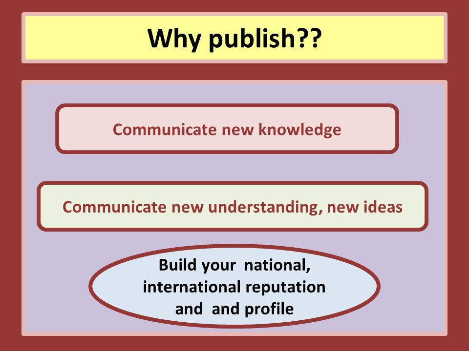 Why publish .