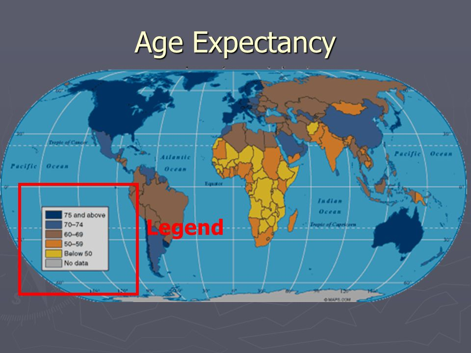 Age Expectancy Legend
