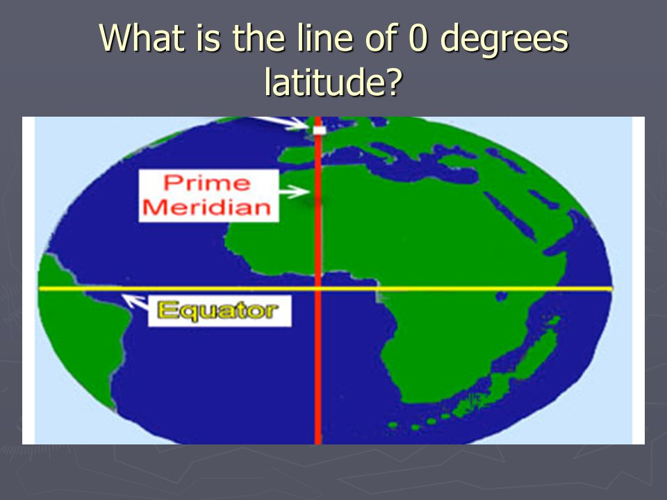 What is the line of 0 degrees latitude