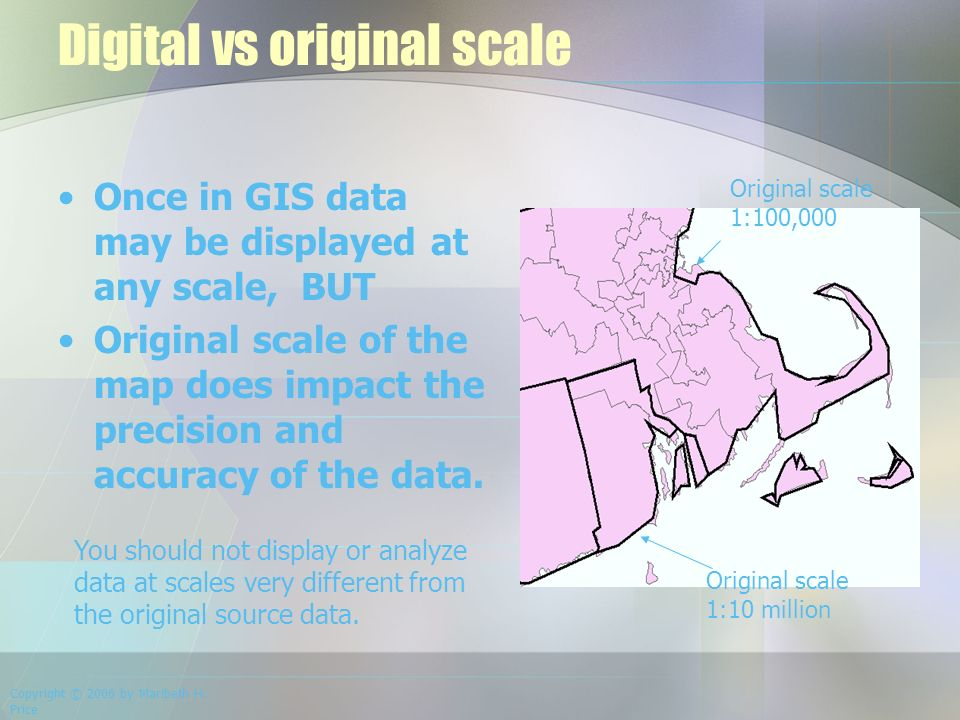 Map Scale, Resolution and Data Models  Components of a GIS
