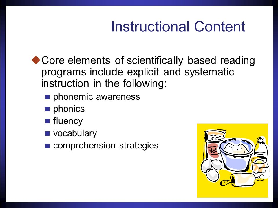 110 Instructional Content = Ingredients
