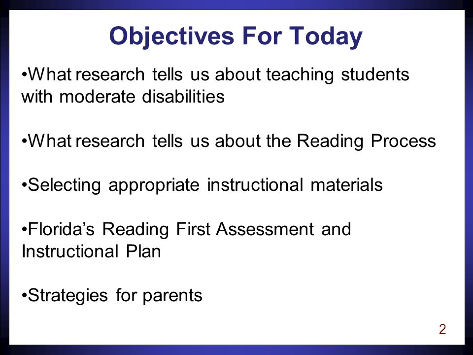 1 Reading Assessment and Instruction for Students with Special Needs Marcia Kosanovich-Grek, Ph.D.