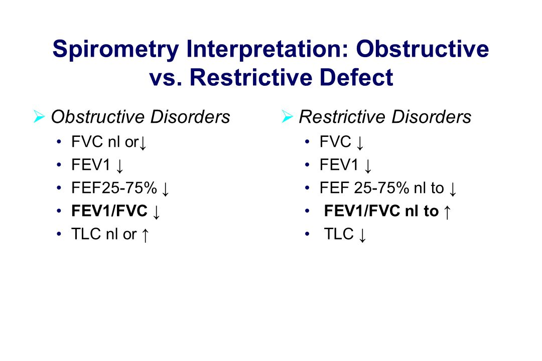 Spirometry Interpretation: Obstructive vs.