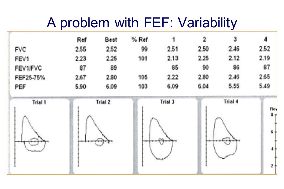 A problem with FEF: Variability