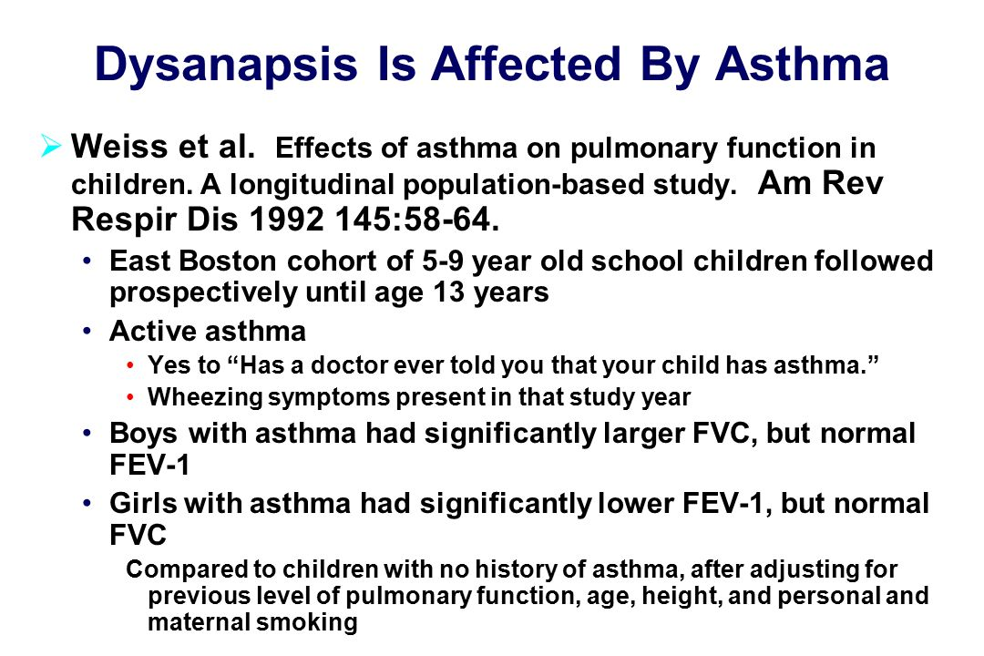 Dysanapsis Is Affected By Asthma  Weiss et al.
