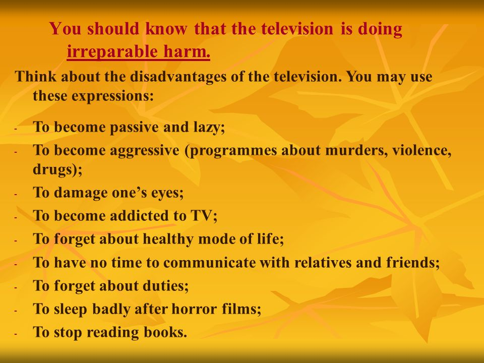 television makes you lazy