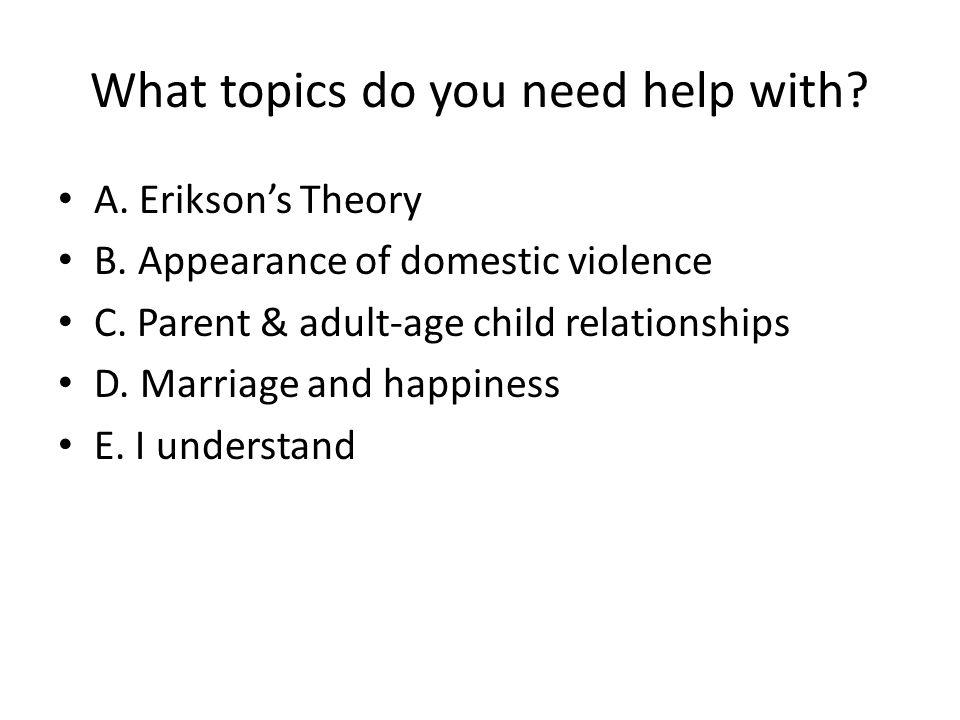 psychosocial topics