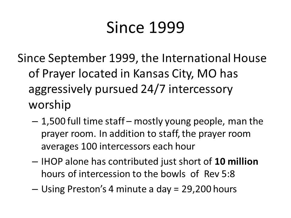 A FRAMEWORK FOR 24/7 DAVIDIC INTERCESSORY WORSHIP IHOP in