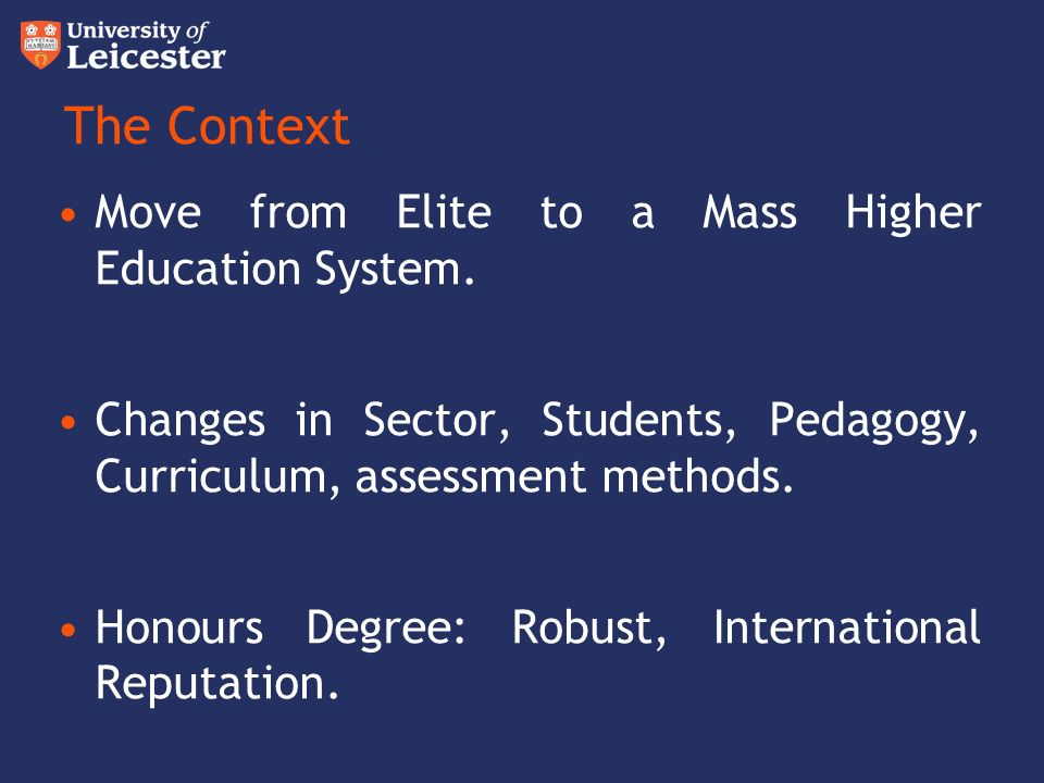 Beyond the Honours Degree Classification developing the HEAR