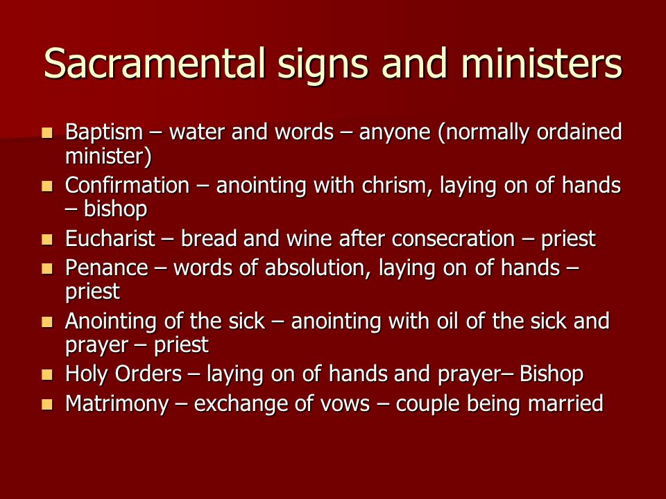 Sacraments Signs And Symbols Symbols And Rituals Symbol From