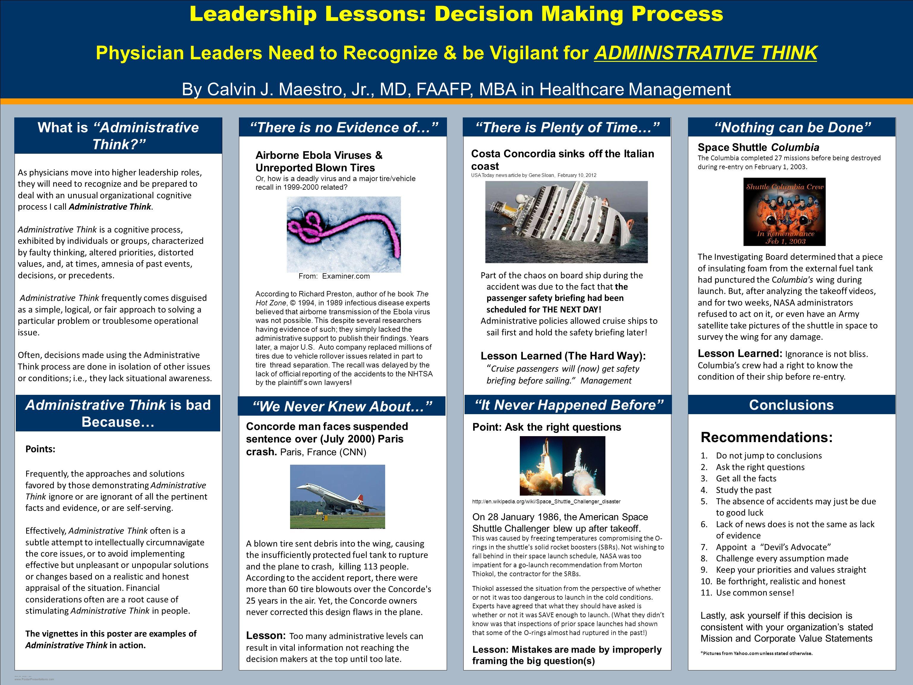 Template Design C Leadership Lessons Decision Making Process