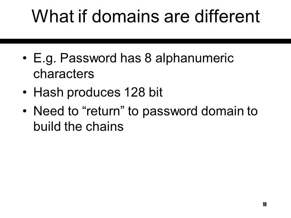 Time-Memory tradeoffs in password cracking 1  Basic Attacks