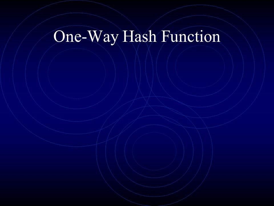 One-Way Hash Function
