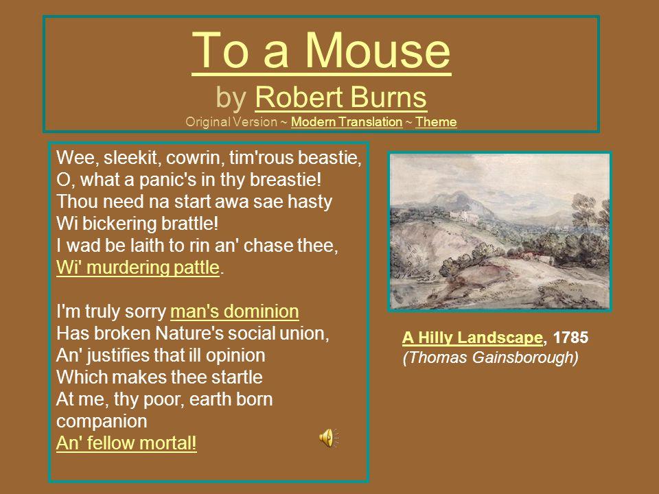 to a mouse robert burns