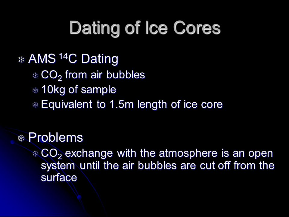 Ice core dating problems — 1