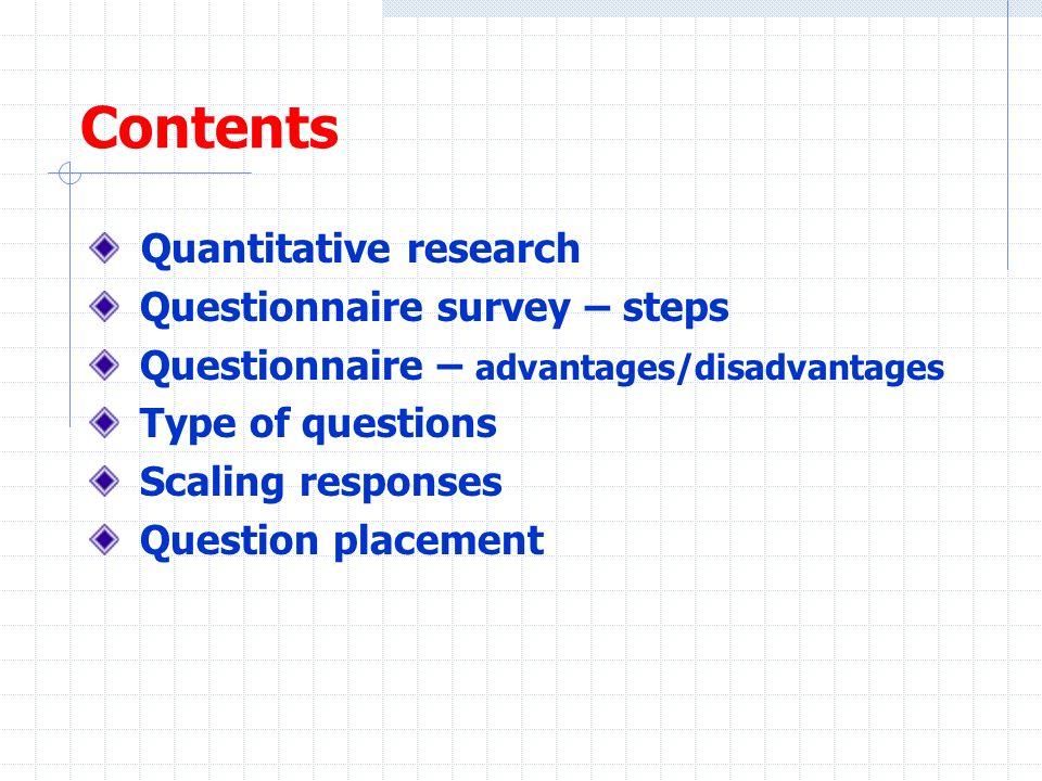 advantages and disadvantages of quantitative research