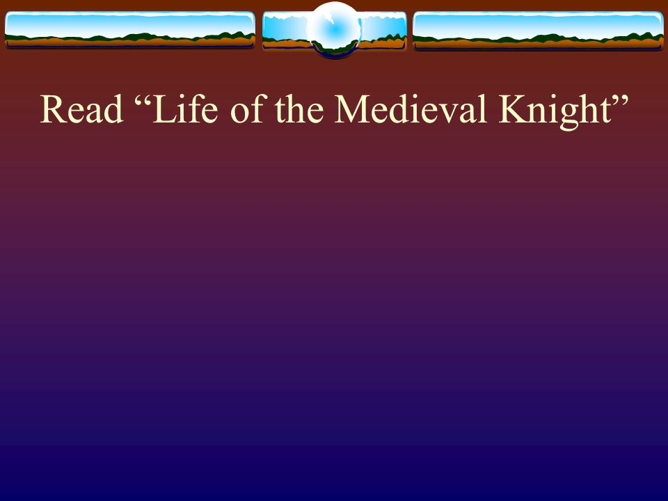 Read Life of the Medieval Knight
