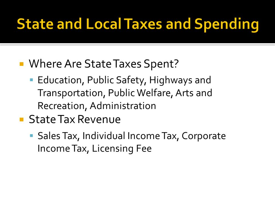  Where Are State Taxes Spent.