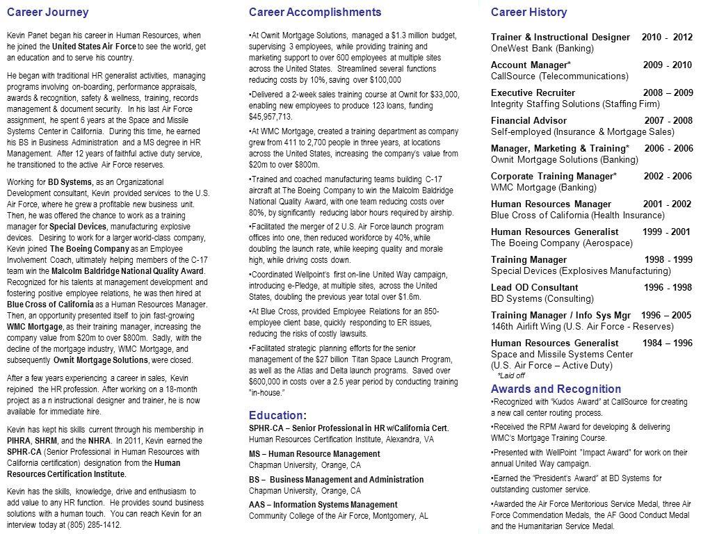 skills & experience human resources organizational development ...