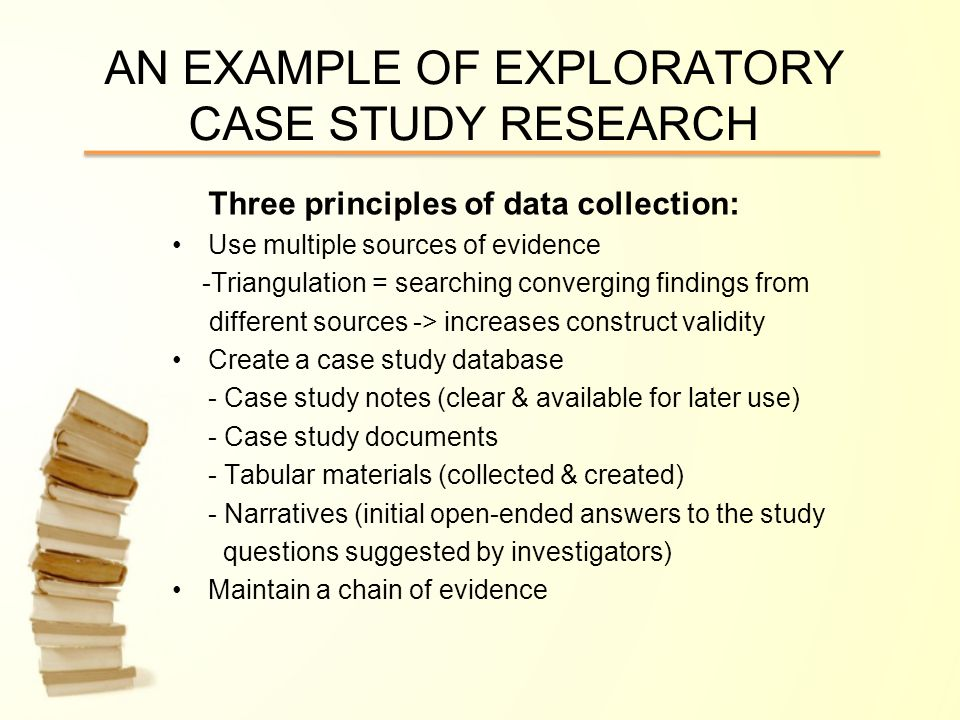 CASE STUDY RESEARCH CONTENT & PRESENTERS: Characteristics