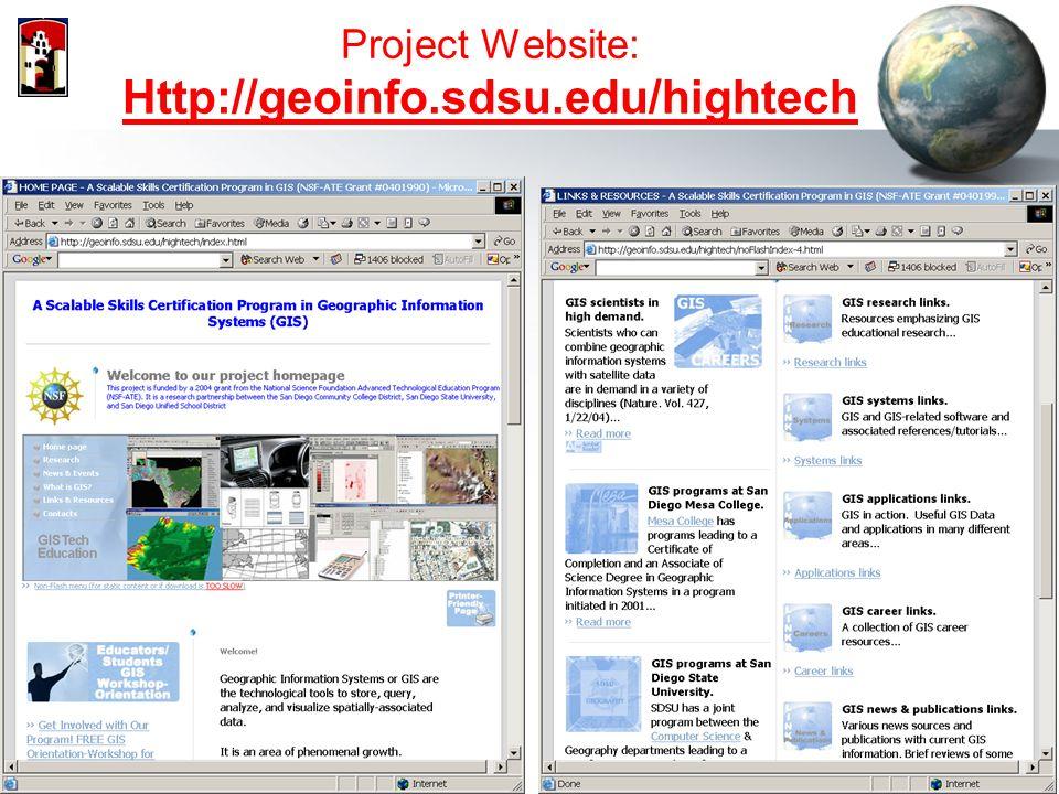 NSF-ATE (# ) Scalable Skills GIS Certificate Program (Web-based GIS ...