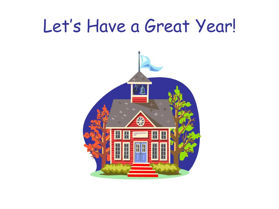 Let's Have a Great Year!