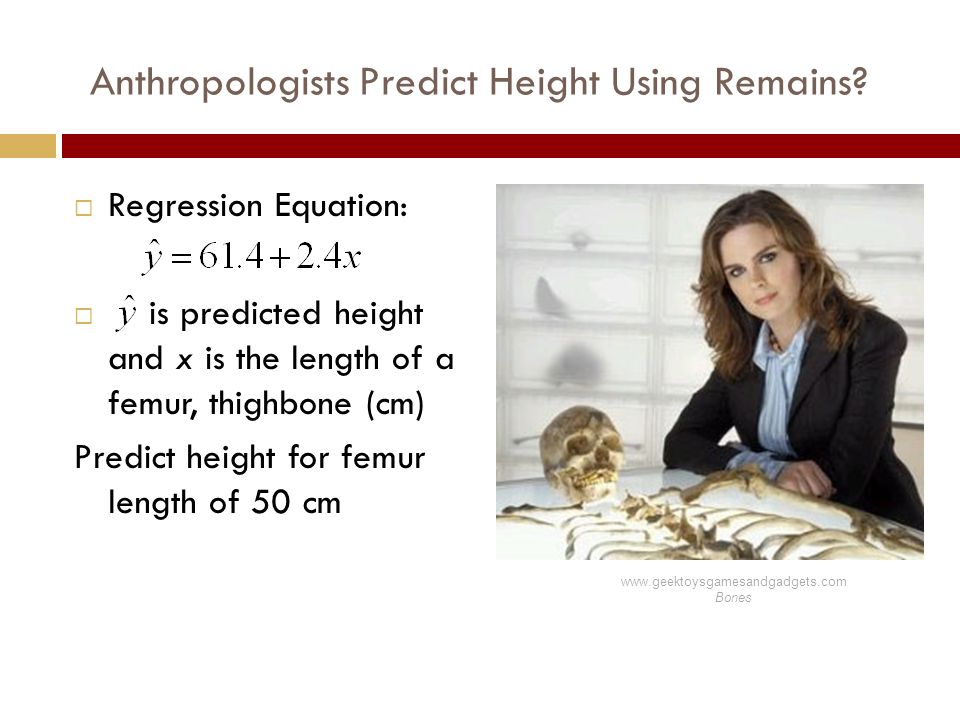 Anthropologists Predict Height Using Remains.