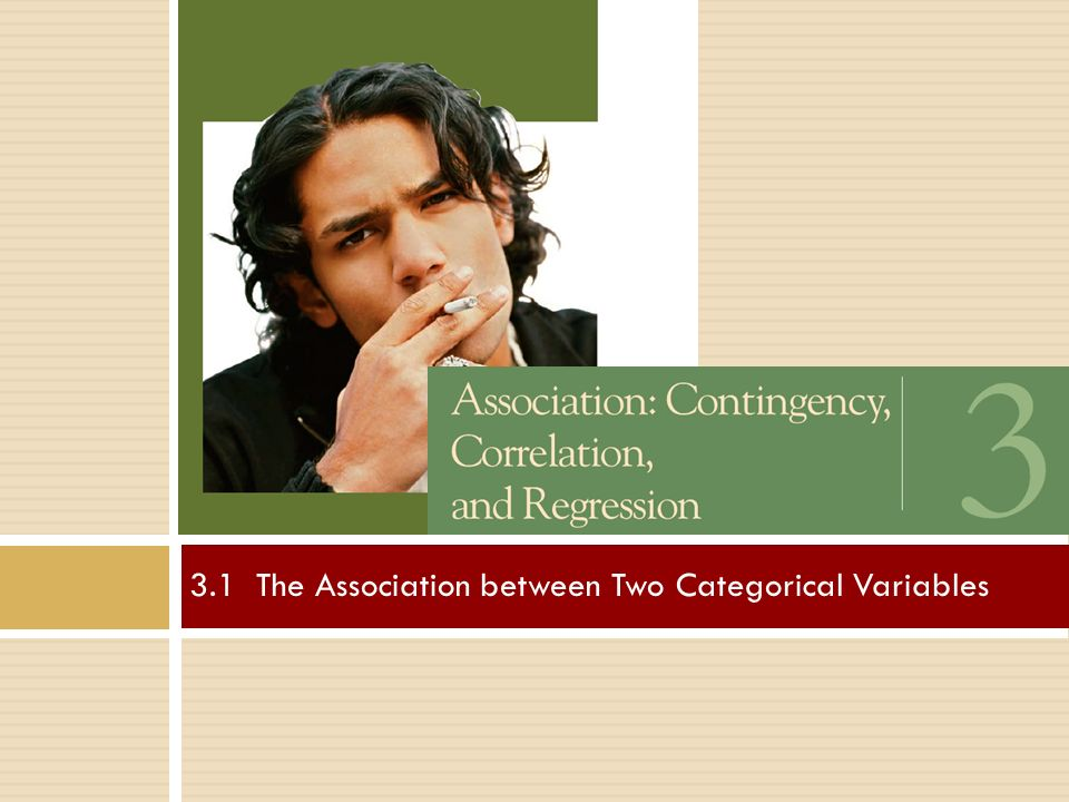 3.1 The Association between Two Categorical Variables