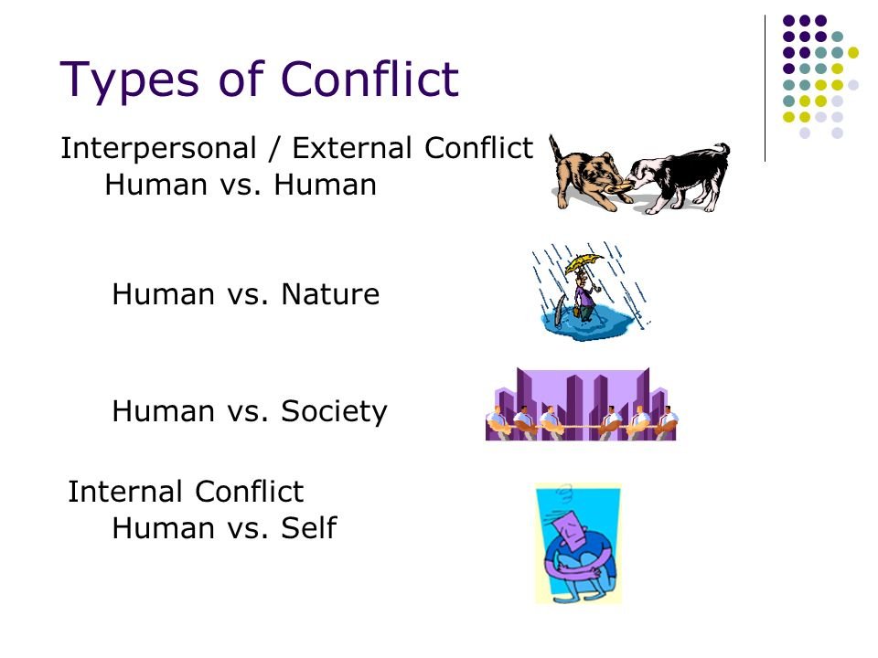 Conflict Conflict is the dramatic struggle between two forces in a story.