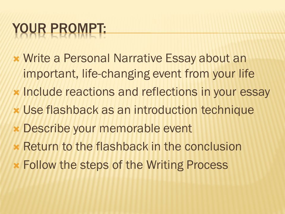 Characteristics Of  Personalhaving To Do With Oneself    Write A Personal Narrative Essay