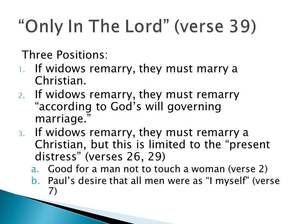bible verses about widows remarrying