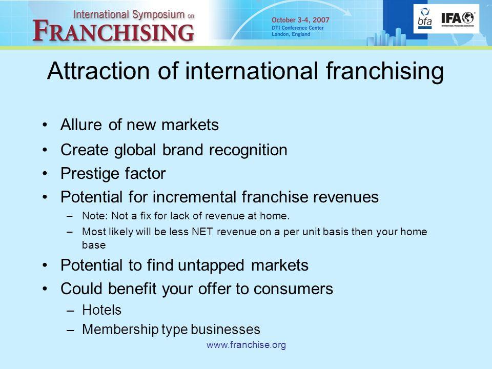 Global Franchising Taking your brand across borders  - ppt