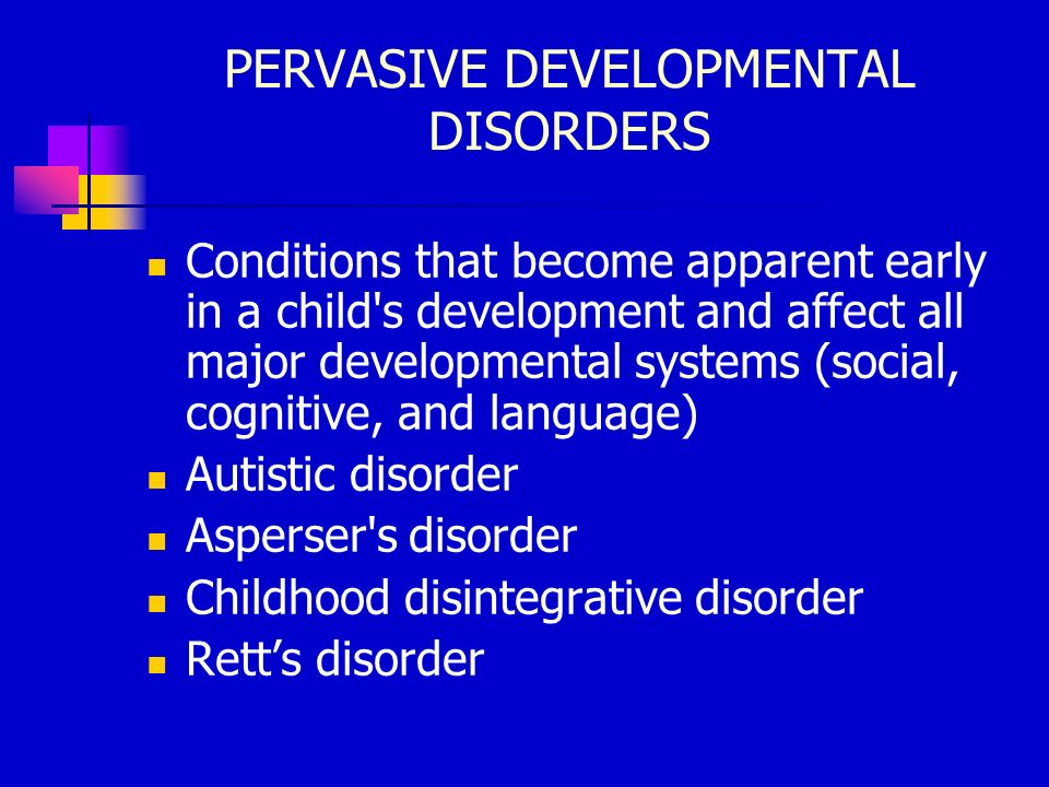 pervasive developmental disorders essay Pervasive developmental disorders after reading the costa and witten piece, please discuss your initial thoughts regarding the information included on page 146 in table 162 also discuss the difference in these two main approaches in terms of their view of symptomatic behaviors in children with pdd/asd.
