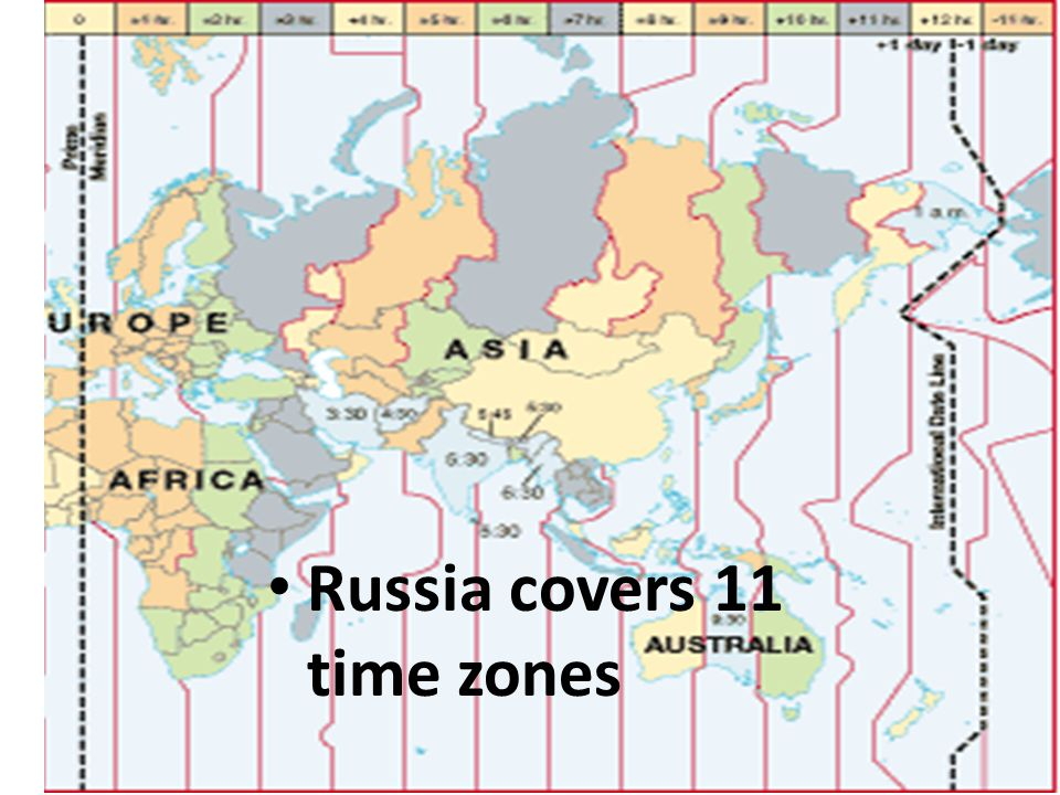 Time Zones In Russia Map.Central Asia Russia Physical And Human Geography Ppt Download