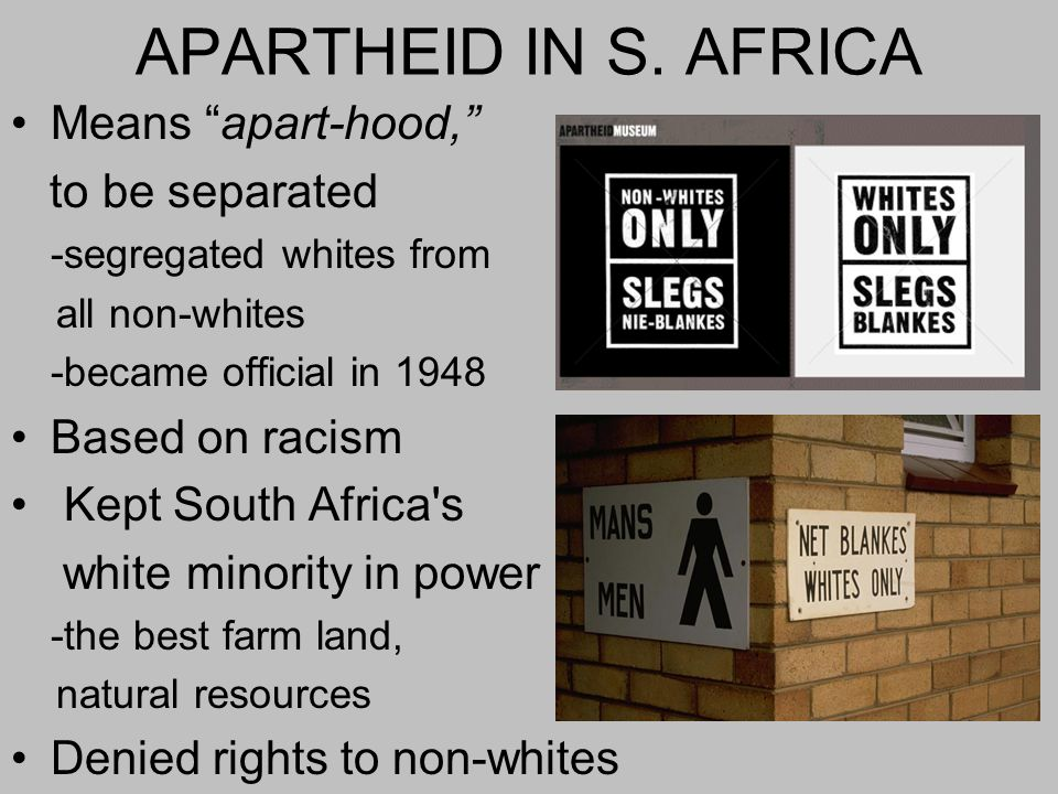 APARTHEID IN S.