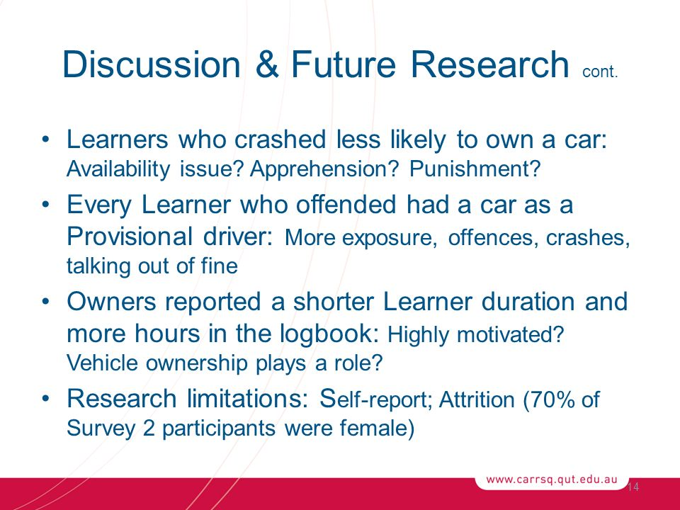 Learners who crashed less likely to own a car: Availability issue.