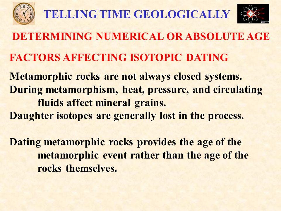 dating of high pressure metamorphic rocks