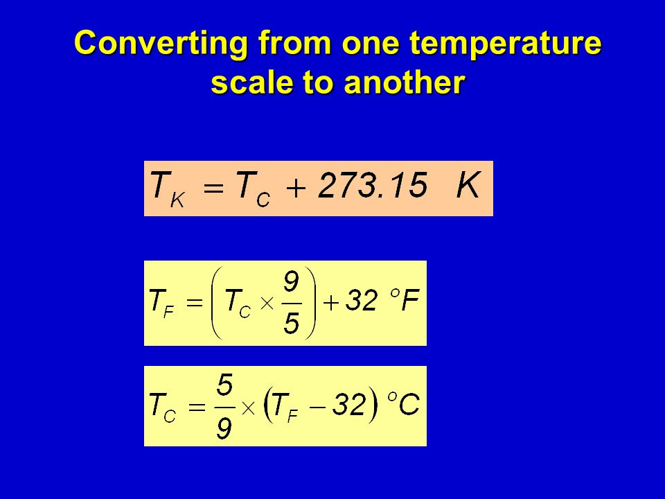 Converting from one temperature scale to another