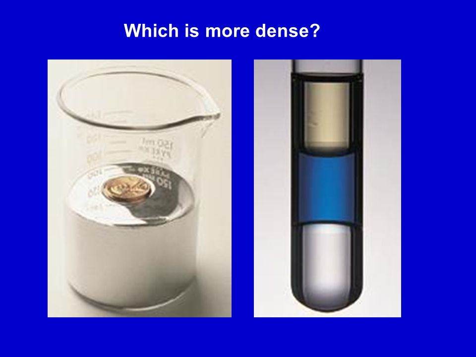 Which is more dense