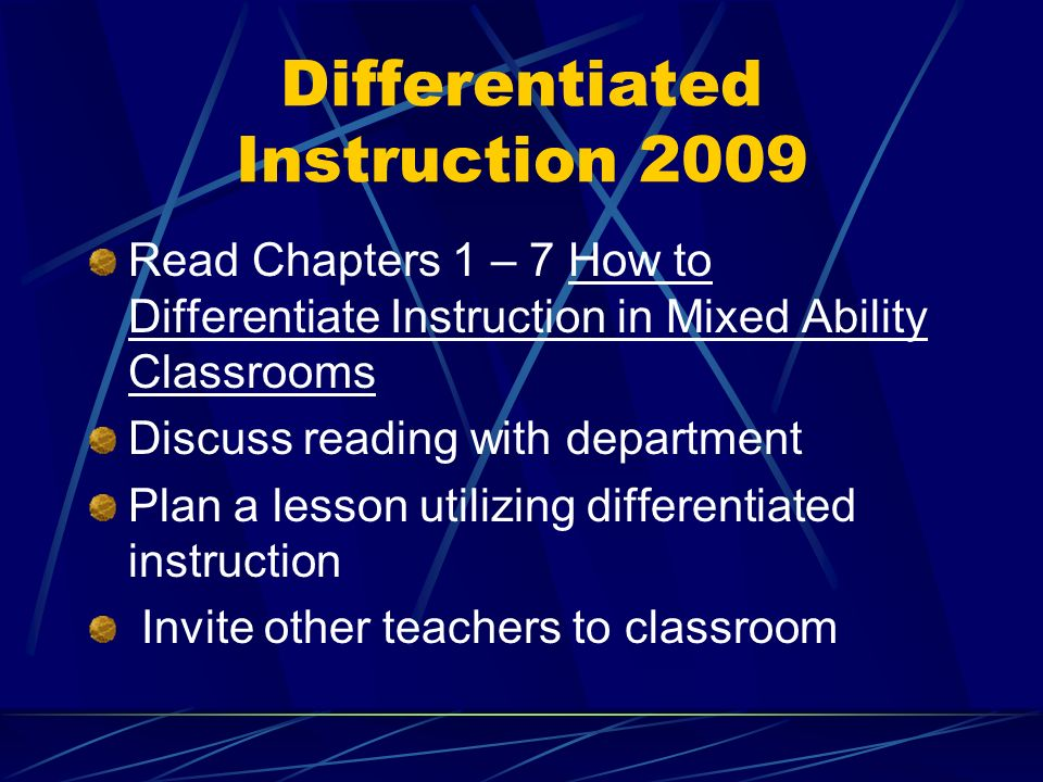 Differentiated Instruction What Is Differentiated Instruction