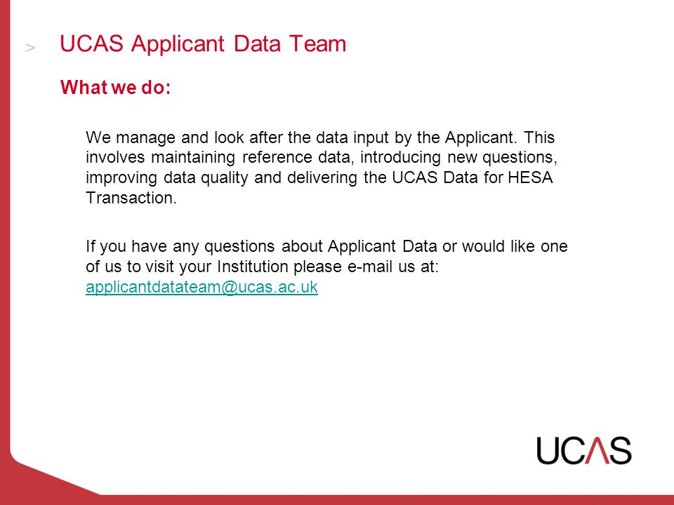 ucas data for hesa update tim hall ucas applicant data team student