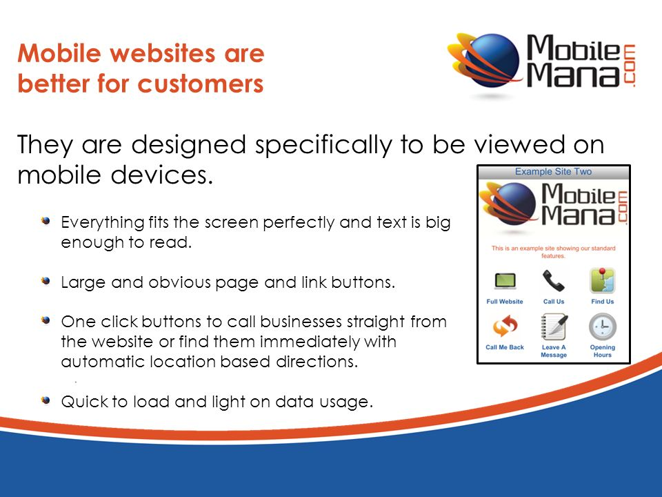 Going Mobile with MobileMana Get a great mobile website