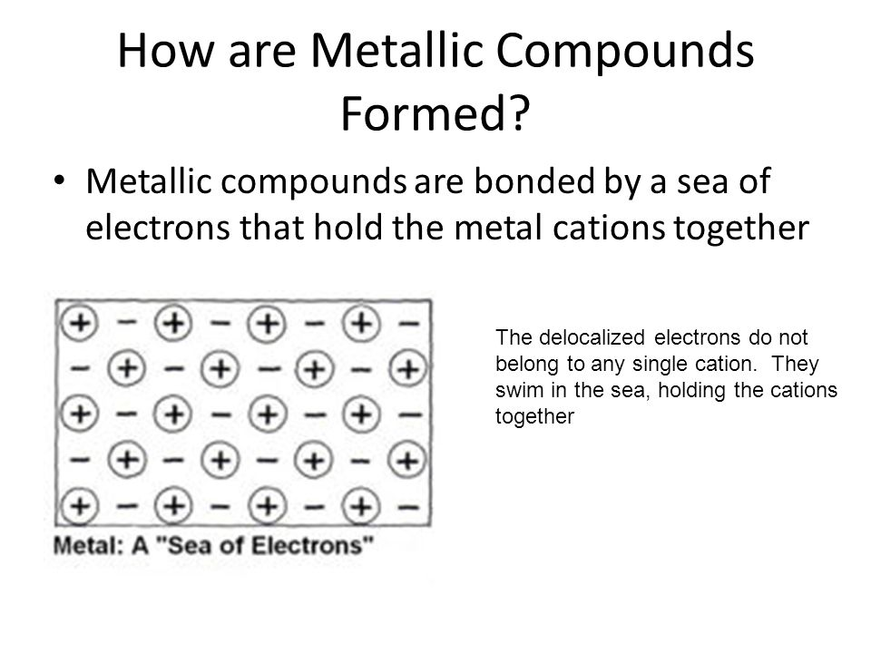 How are Metallic Compounds Formed.