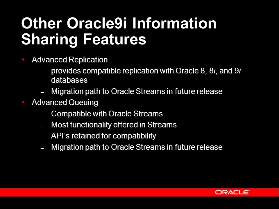 Data Replication with Advanced Replication & Oracle Streams