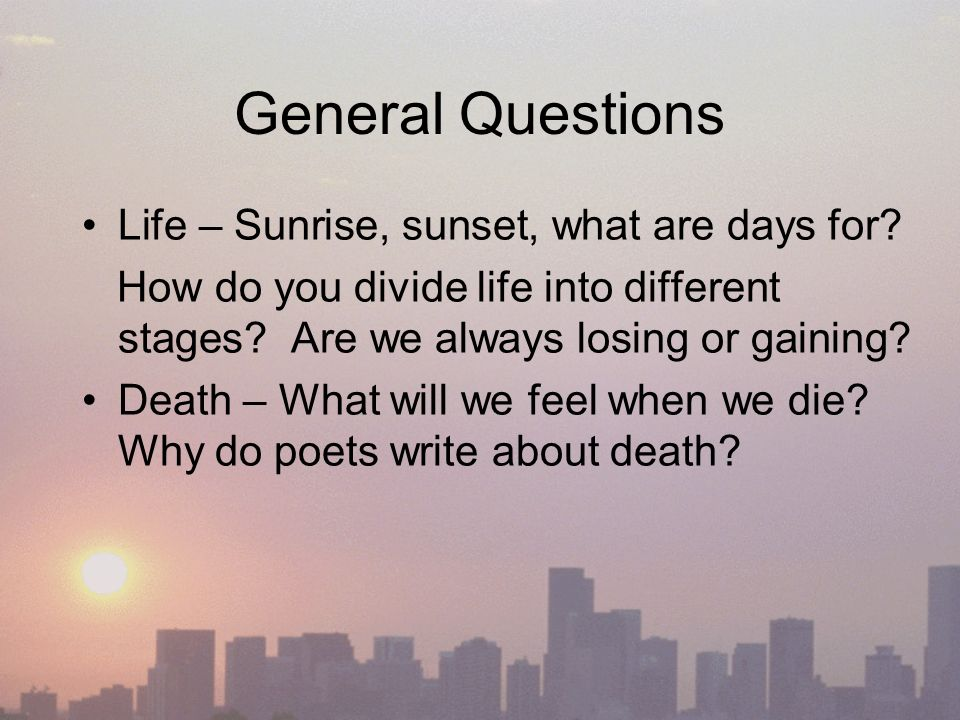 Poetry 2 Life Birth And Death Imagery And Metaphor Rhyme And