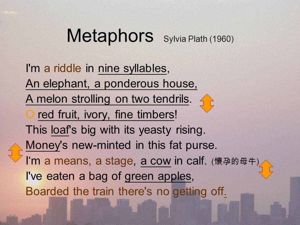 metaphors sylvia plath