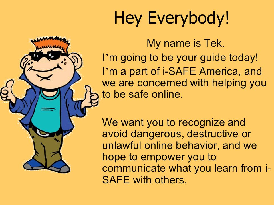 Cyber Security Level 7  Hey Everybody! My name is Tek  I ' m