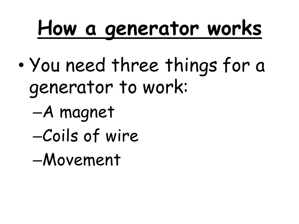 how electric generators work. Contemporary Electric Key Terms You Need To Understand Electricity Is The Flow Of Charged  Particles Called Electrons 5 How A Generator Works  In Electric Generators Work
