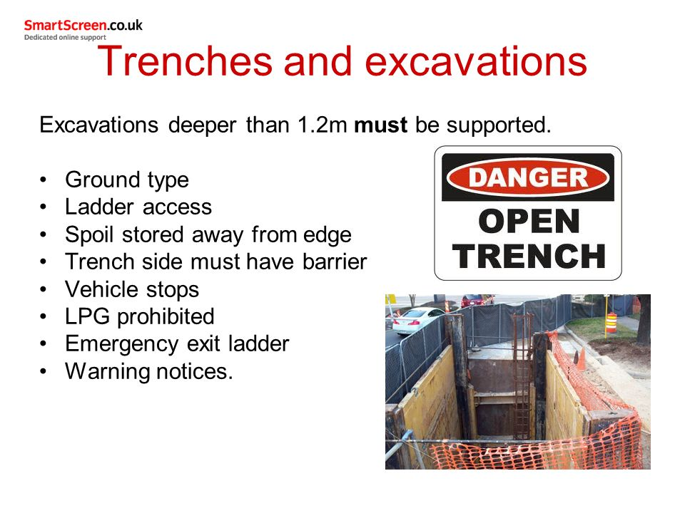 Outcome 6 Safety Requirements For Working Safely In Excavations And Confined Spaces Unit 201 Health And Safety In Building Services Engineering Ppt Download